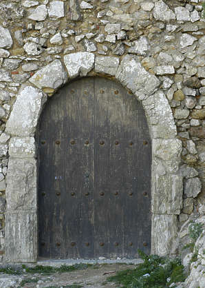 door medieval simple arch wood
